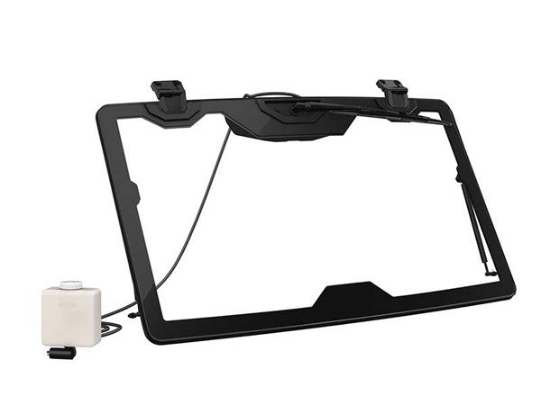can am schwenkbarer glas windabweiser scheibenwischer. Black Bedroom Furniture Sets. Home Design Ideas